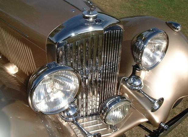 Vintage cars rechromed