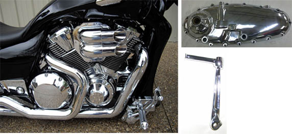 Chrome motorcycle parts